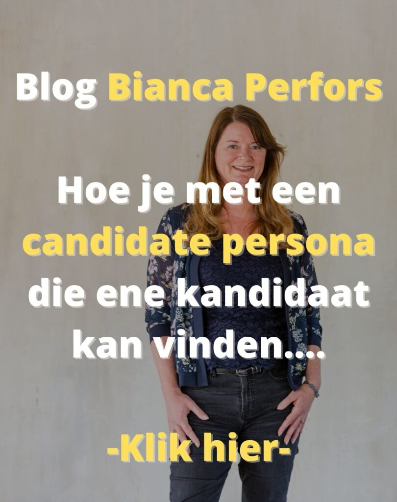 Blog Bianca Perfors - Een candidate persona in 4 stappen
